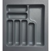 Вкладыш для кухонных приборов пластик 550 mm, серый 490х490х45