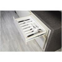 Вкладыш для кухонных приборов белый 700 мм, 640х490х45, пластик