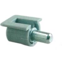 Полкодержатель для ДСП с пластиковым фиксатором белый